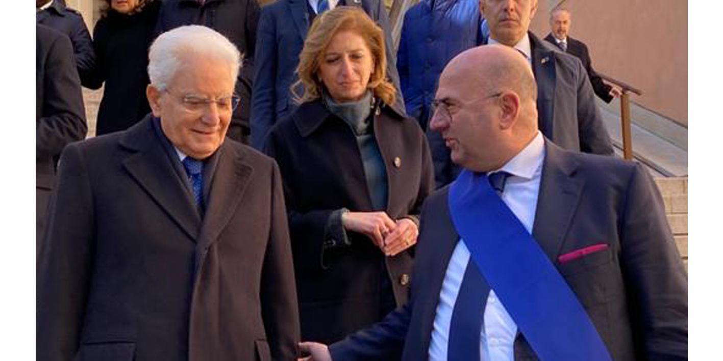 Il presidente Fabio Bui in compagnia del presidente Mattarella