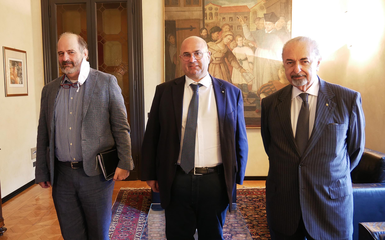 Il presidente della Provincia di Padova Fabio Bui e il presidente del Conservatorio Pollini Casellati