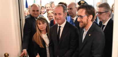 """Inaugurata nella """"Casa Rossa"""" del quartiere Arcella la nuova sede amministrativa di Azienda Zero"""