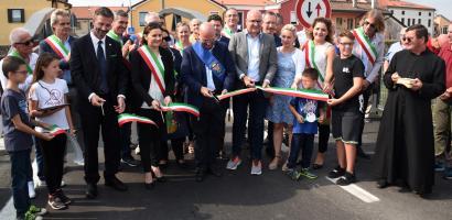 Bovolenta: inaugurato il nuovo ponte sul fiume Bacchiglione lungo la Sp 35