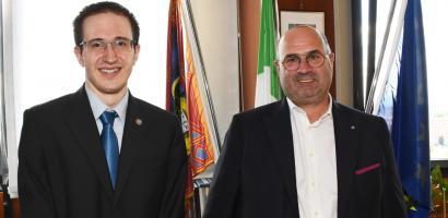 Il presidente della Provincia di Padova Fabio Bui ha incontrato Giulio Deangeli