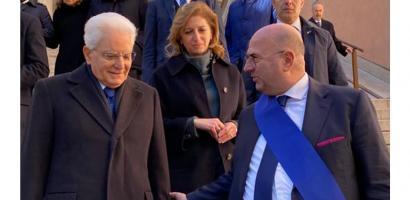 Presidente Fabio Bui con il presidente della Repubblica Sergio Mattarella