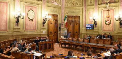 Foto della Sala Consiliare della Provincia di Padova