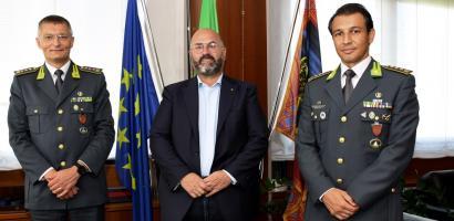 presidente provincia di padova e comandanti guardia di finanza