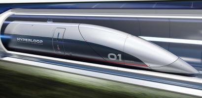 Foto del prototipo dell'Hyperloop