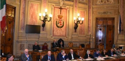 Tavolo dei relatori presenti all'incontro