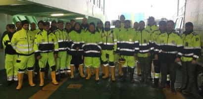 Foto dei partecipanti alle operazione di protezione civile
