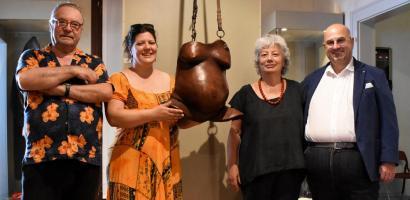 Il presidente Bui in visita al Museo della Maschera Sartori