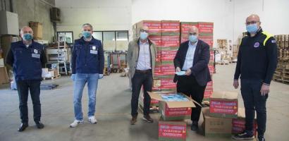 Donate dalla Cina alla Provincia 50 mila mascherine chirurgiche