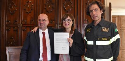 Este: firmato l'accordo per la nuova sede dei Vigili del fuoco